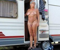 Naked granny on harley