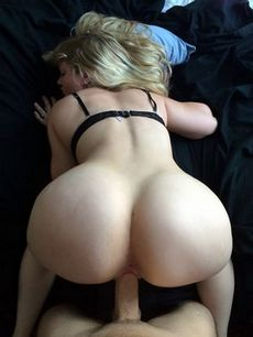 Fabulous blonde booty in..