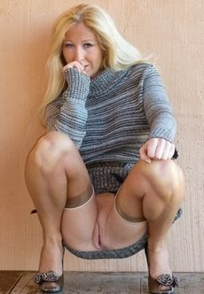 Beautiful blonde mature..
