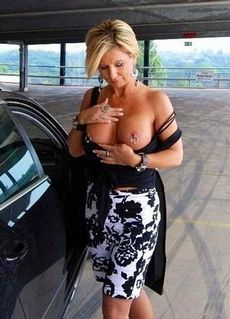 MILF with pierced nipples