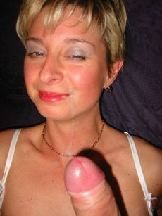 Facial cumshot all over..