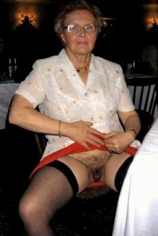 Filthy granny shows her old..