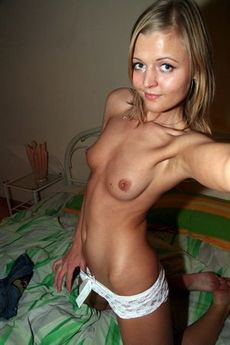 Cute Topless Blonde Pic.