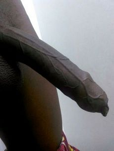 Fat black dick in bathroom,..