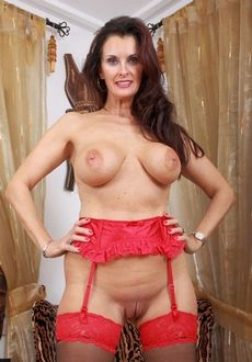 Hot mature in red.