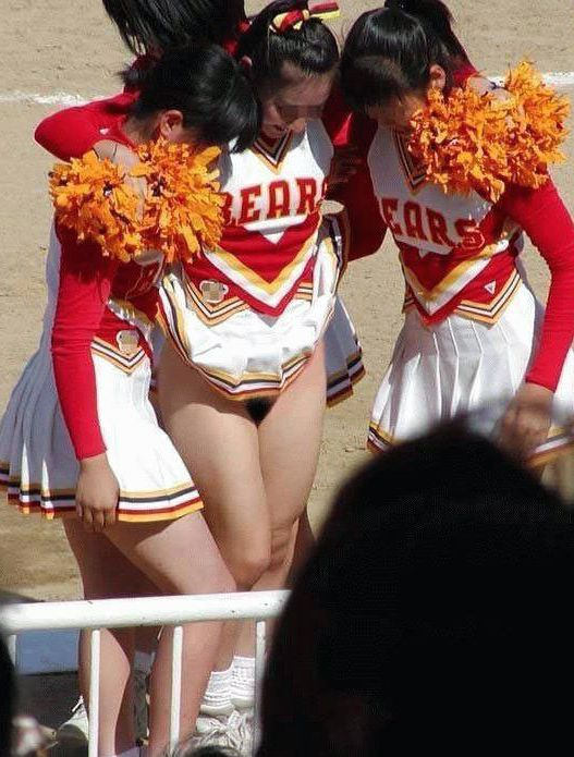 College cheerleader at..