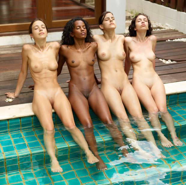 Four HOT young girls by..